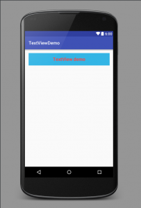 TextView demo in layout file